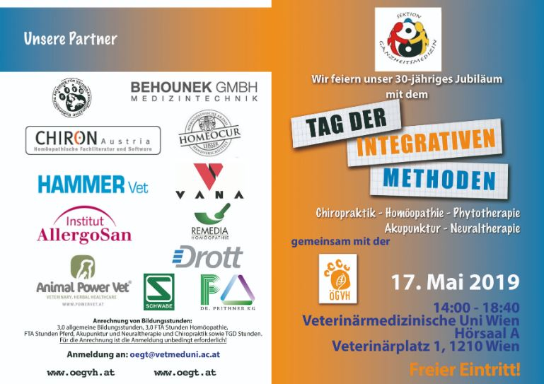 Tag der integrativen Methoden 17. Mai 2019